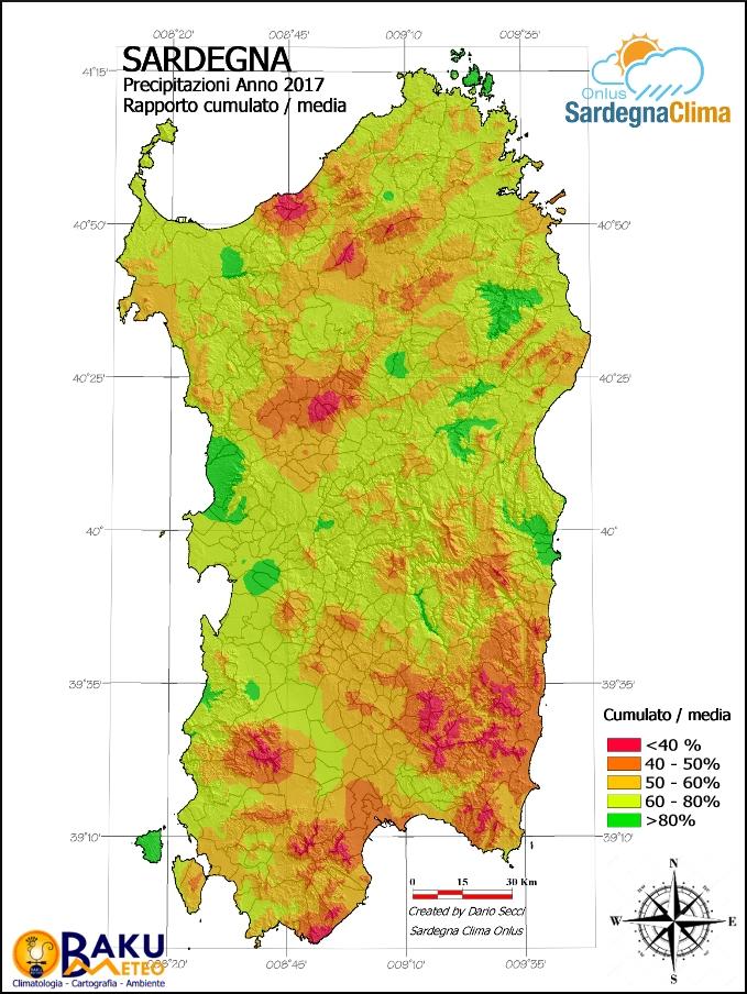 Cartina Sardegna Ussana.Le Piogge In Sardegna Totali Pluviometrici 2017