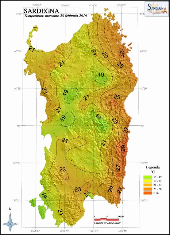 Mappa Sardegna Zona Cagliari.Raggiunto Il Record Di Caldo Per Il Mese Di Febbraio A Cagliari Benvenuto Su Sardegna Clima